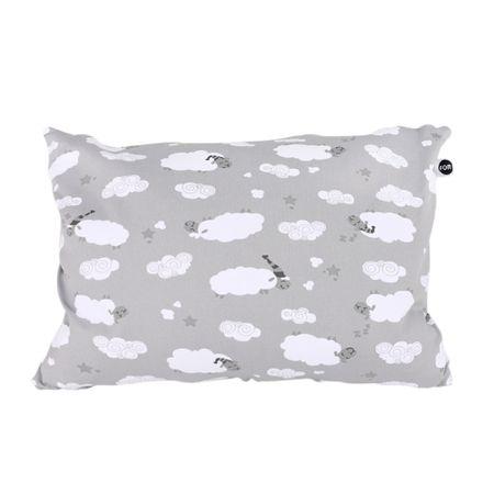 Travesseiro Mini Carneirinhos Cinza