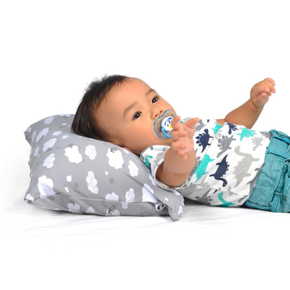 Foto 3 - Travesseiro Mini Carneirinhos Cinza