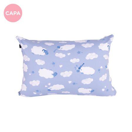 Fronha Avulsa - Travesseiro Mini Carneirinhos Azul