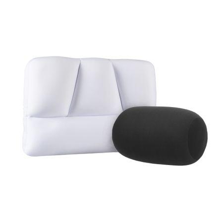 Combo Travesseiros Gomos + Rolo P Preto