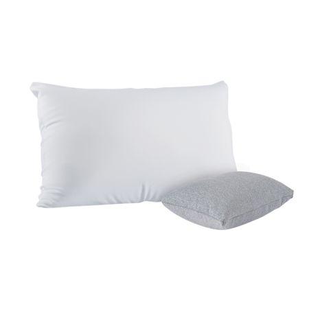Combo Travesseiros Gomos + Mini Cinza Mescla