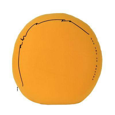 Almofada-Redonda-Abraco-Amarelo-Euliricas-Com-Capa